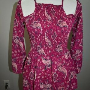 Decree Size Small Blouse Bell Sleeve Cold Shoulder